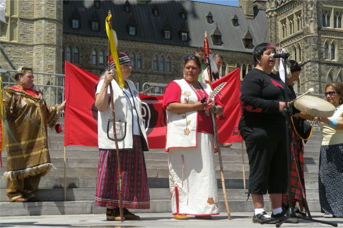 Rally in front of Ottawa Parliament