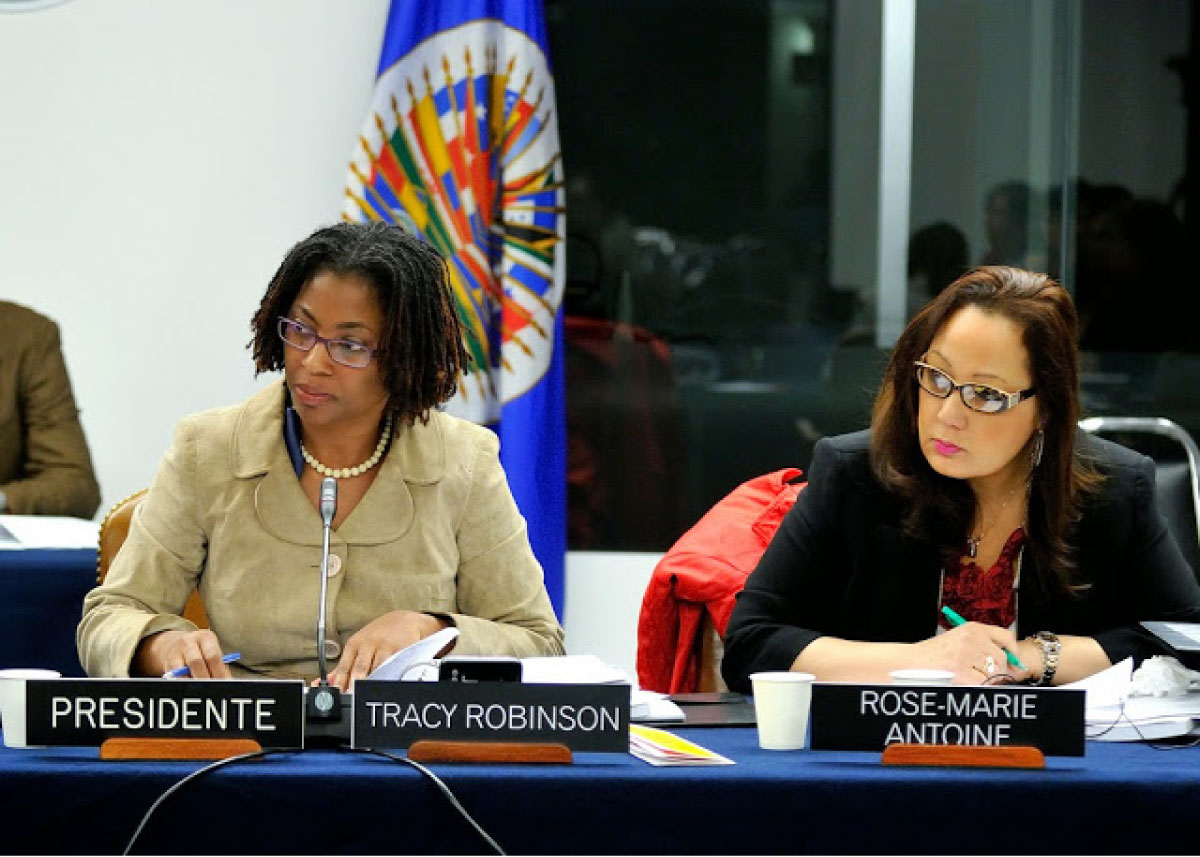Tracy Robison and Marie-Rose-Antoine at IACHR 2012